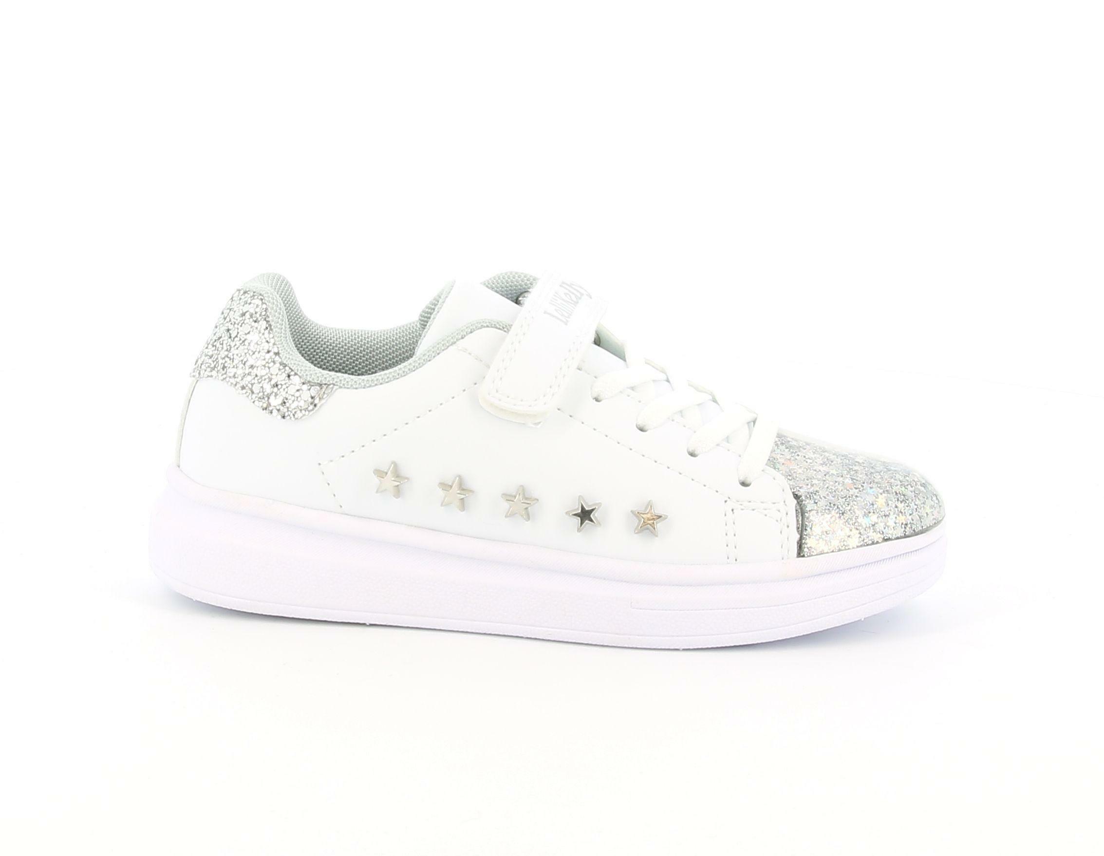 lelli kelly lelli kelly lk5821 sneakers bambina bianco argento