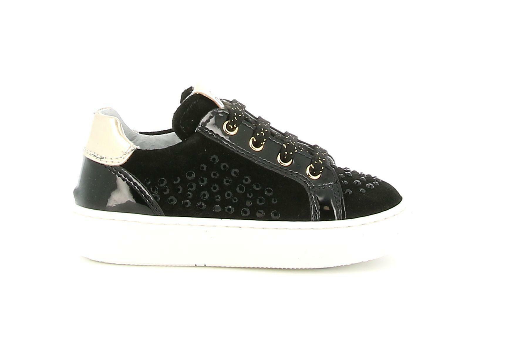 nero giardini nero giardini  i021536f 100 nero sneakers bassa bambina