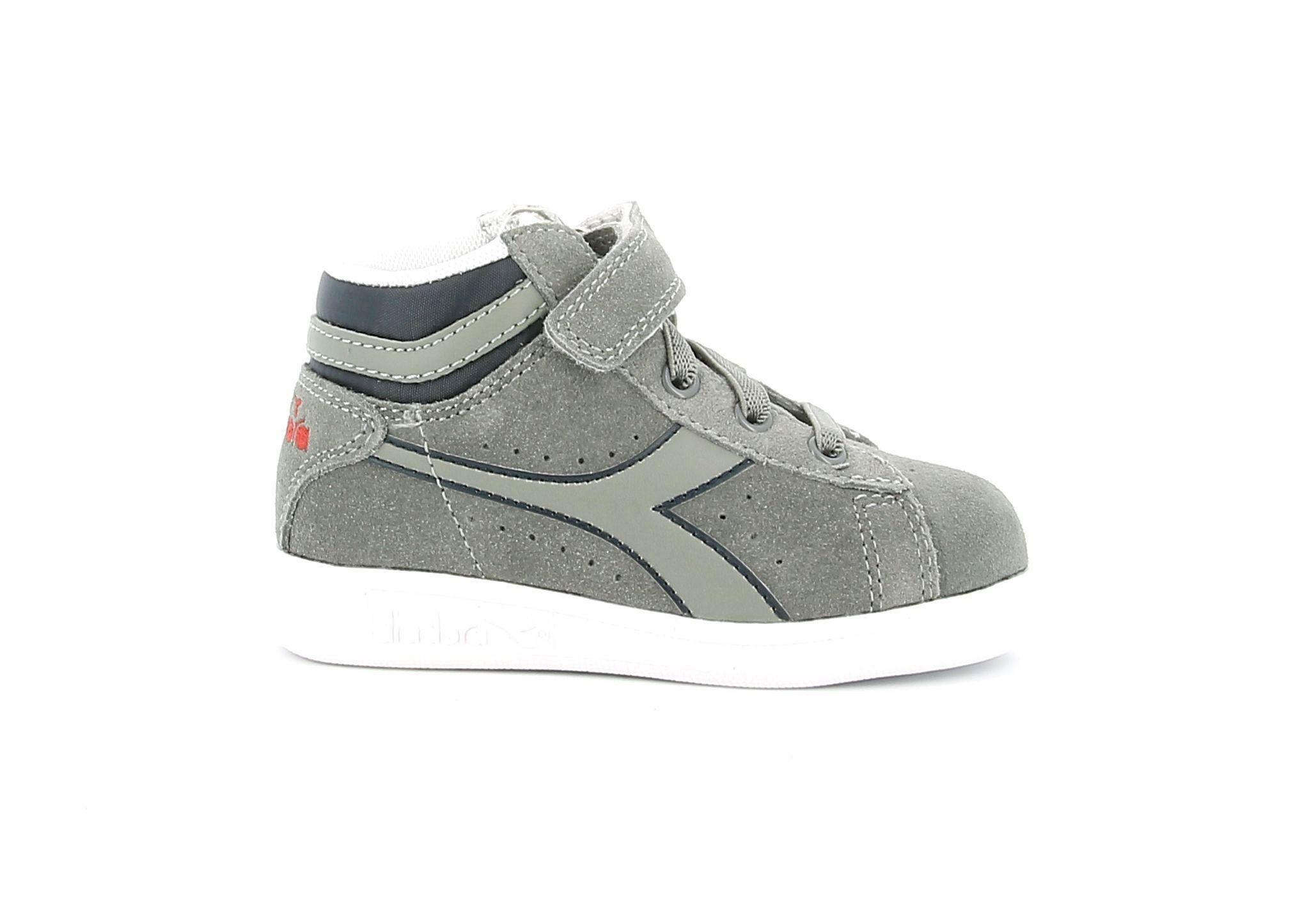 diadora diadora game s hight td grigio 173990 grigio scarpe da ginnastica bambino