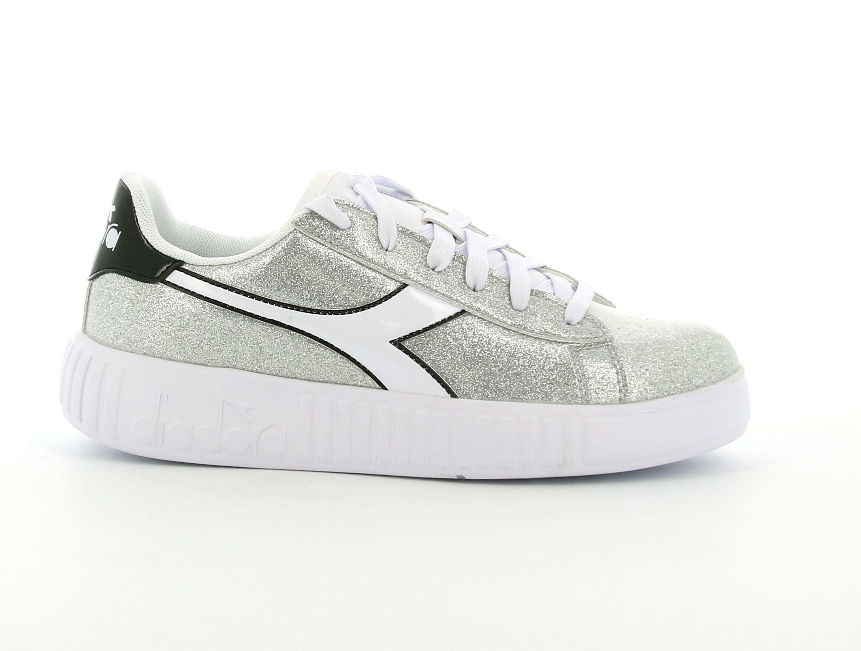 diadora diadora game step gs 176739 argento sneakers ragazza
