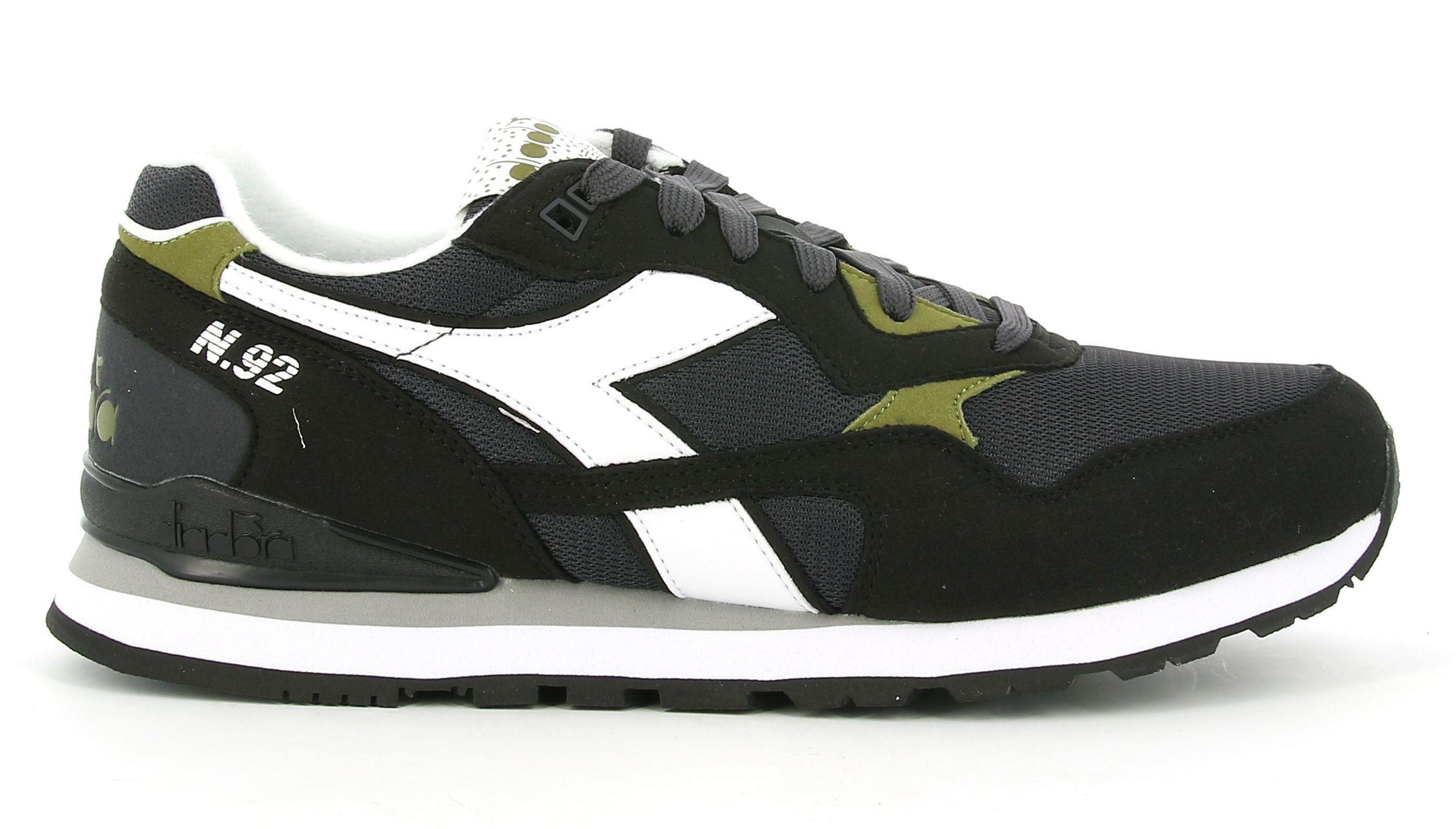diadora diadora - sneakers n.92 per uomo e donna (eu39) nero fantasma 173169  nero