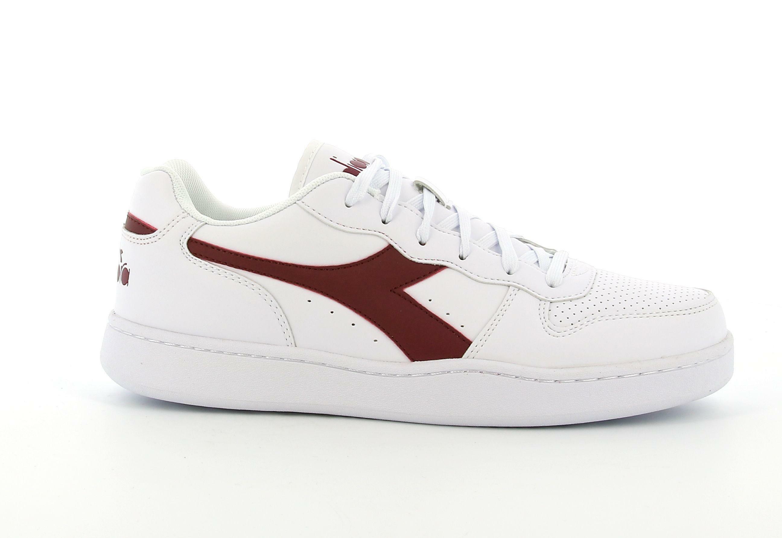 diadora diadora playground scarpe con lacci uomo  bianco viola prugna 172319 bianco