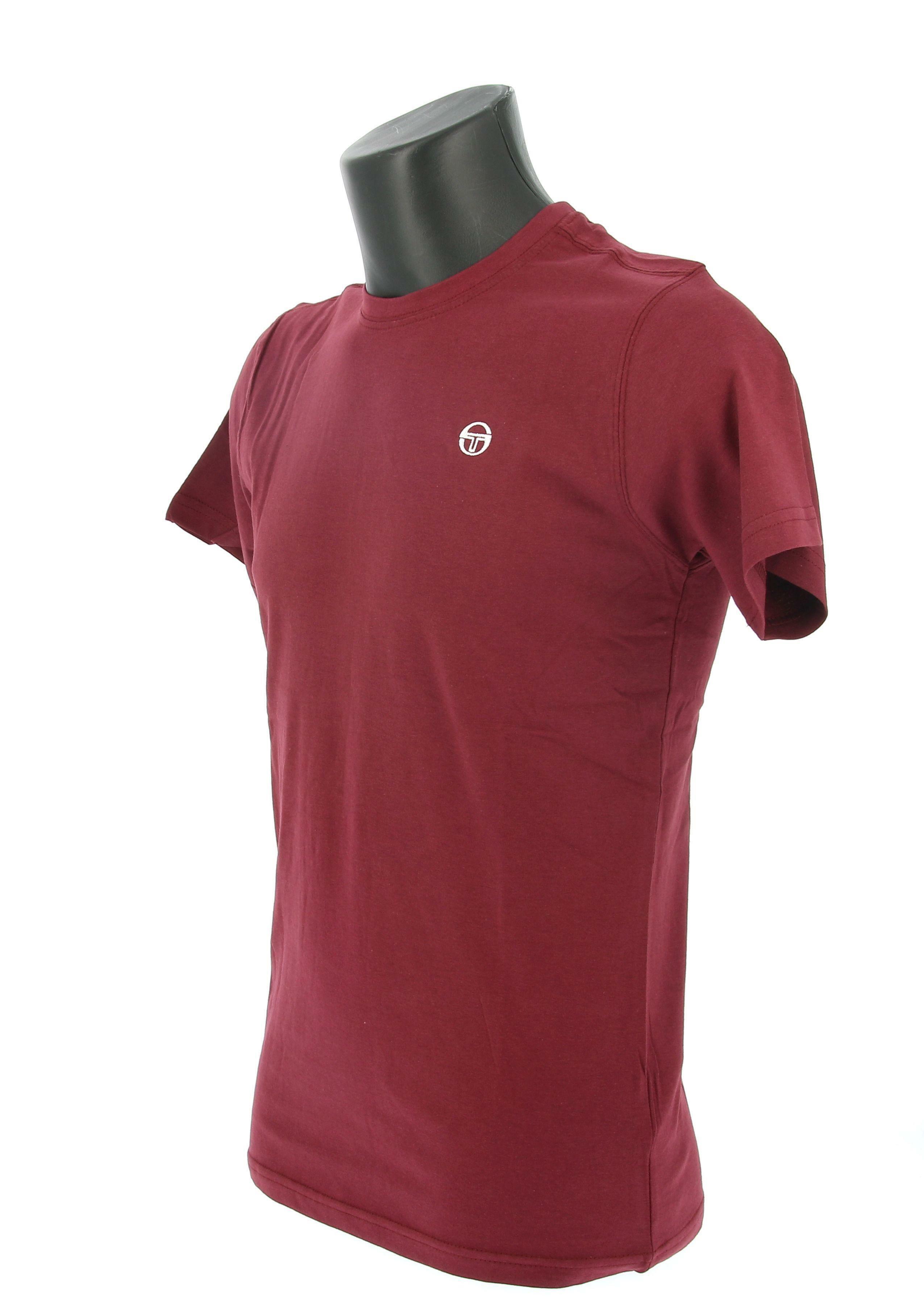 sergio tacchini sergio tacchini ss t-shirt iconic 10007 manica corta uomo bordeaux