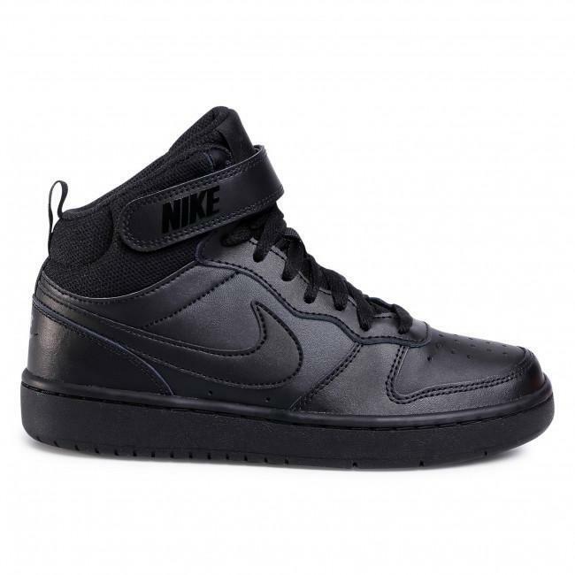 nike nike court borough mid 2 (tdv) cd7784 001 black/black bambino