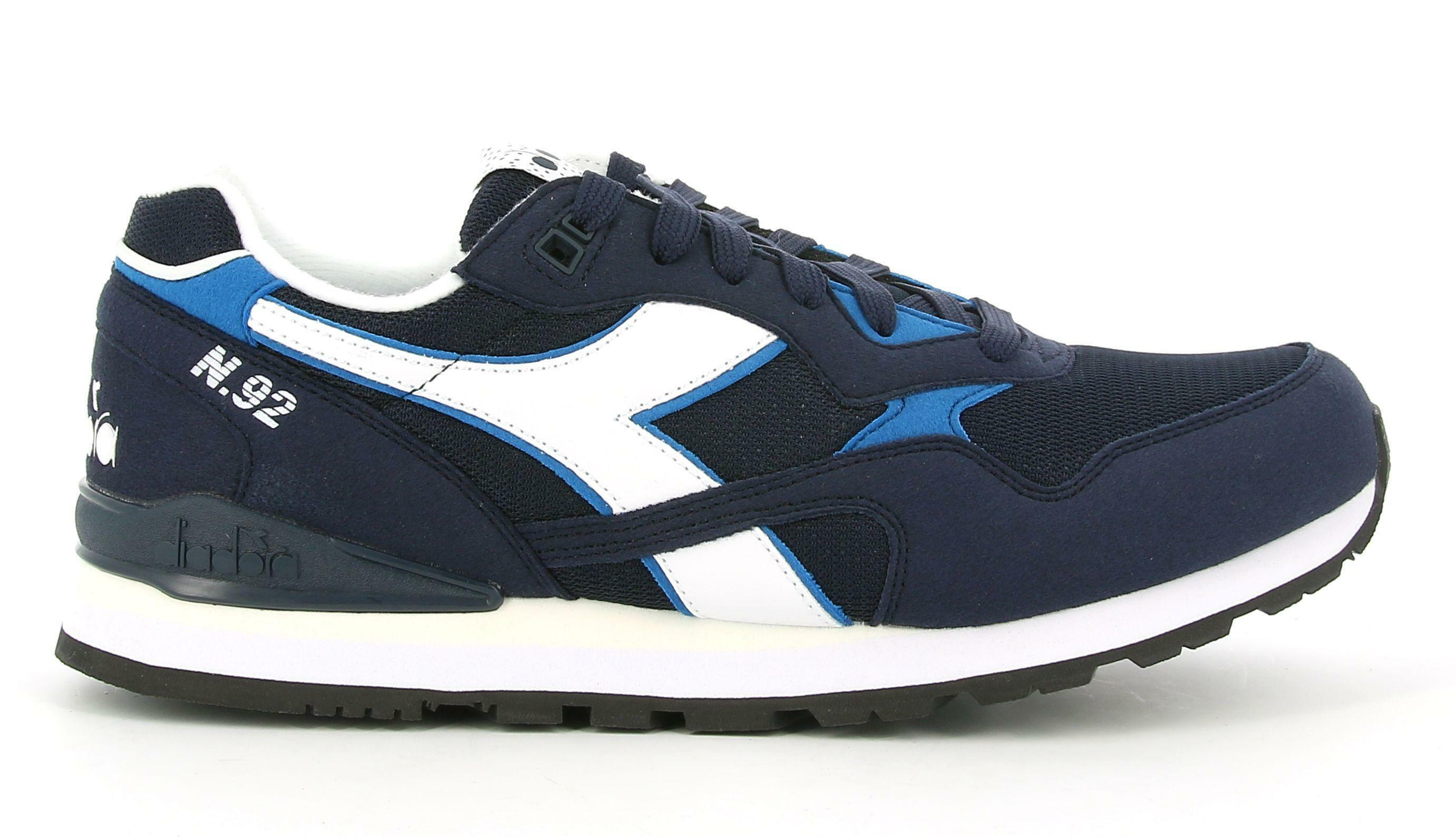 diadora diadora n.92 173169 scarpa sportiva da uomo blu