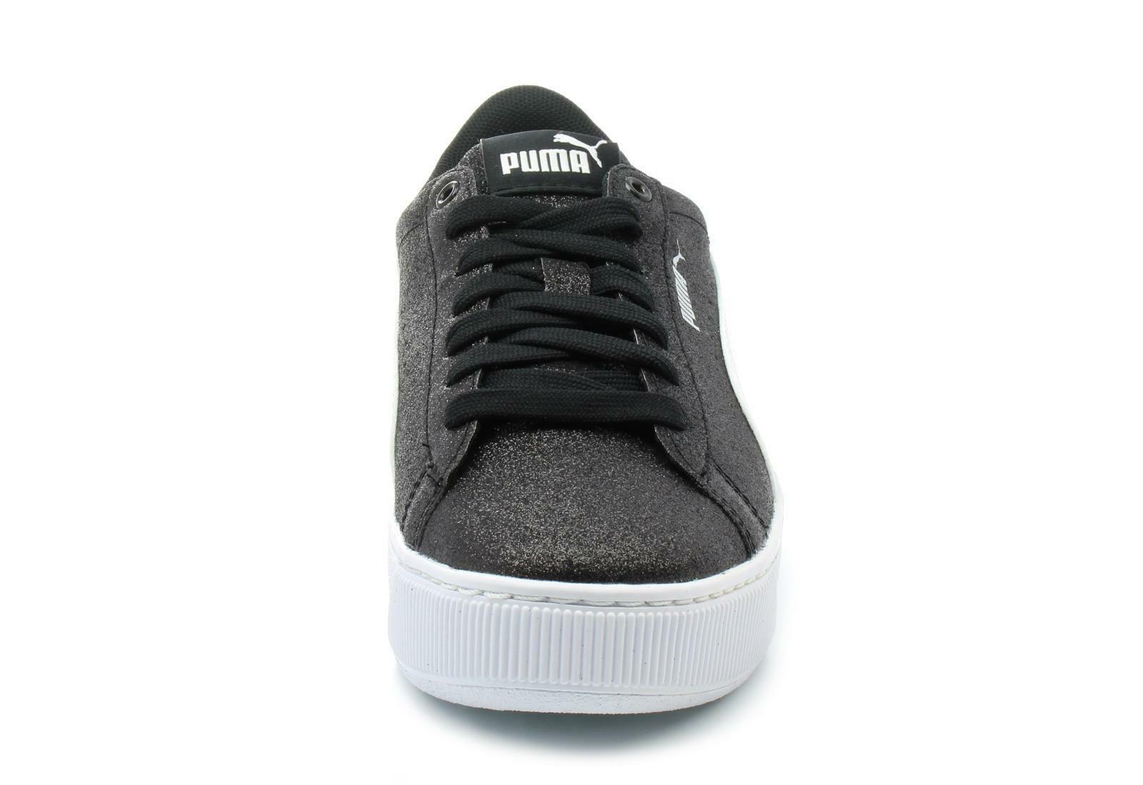 puma puma vikky platform glitz jr bambina sneaker 366856 008 nera