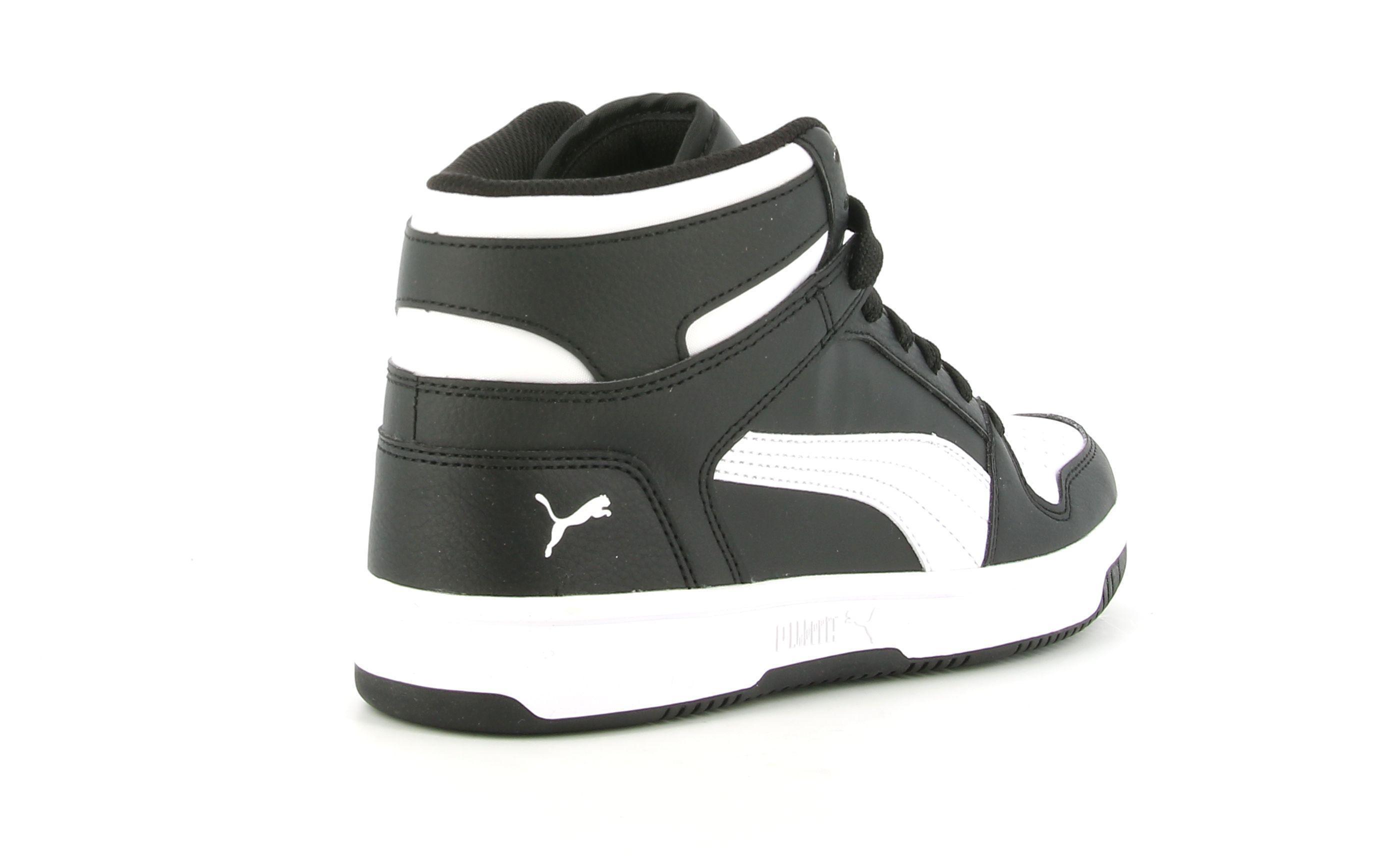 puma rebound layup sl jr bambino sneaker alta 370486 001 nera