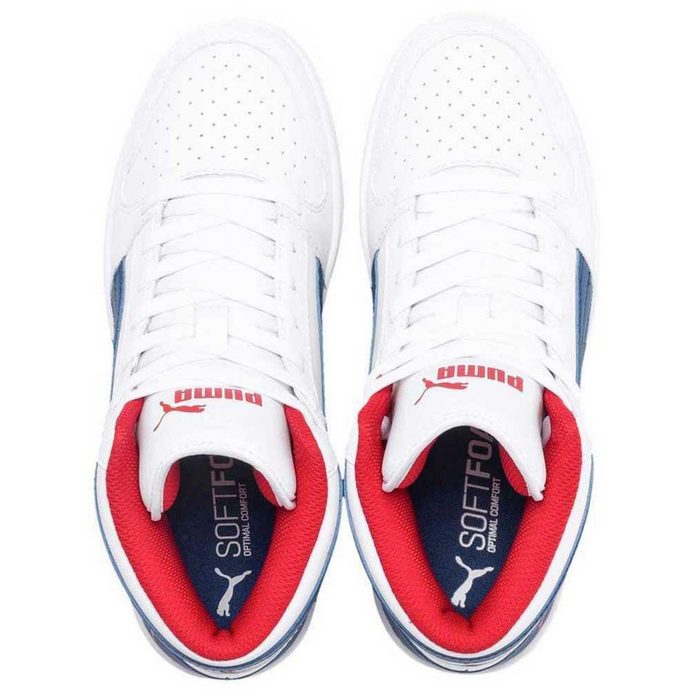 puma rebound layup sl jr bambino sneaker alta 370486 005 bianca