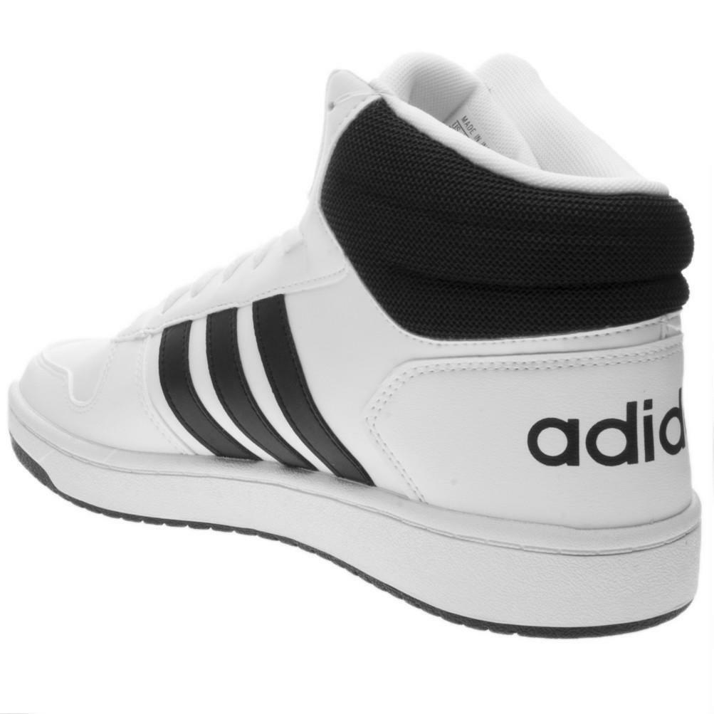 Dettagli su Scarpa Sportiva Uomo Adidas Hoops 2.0 Mid Bianca BB7208