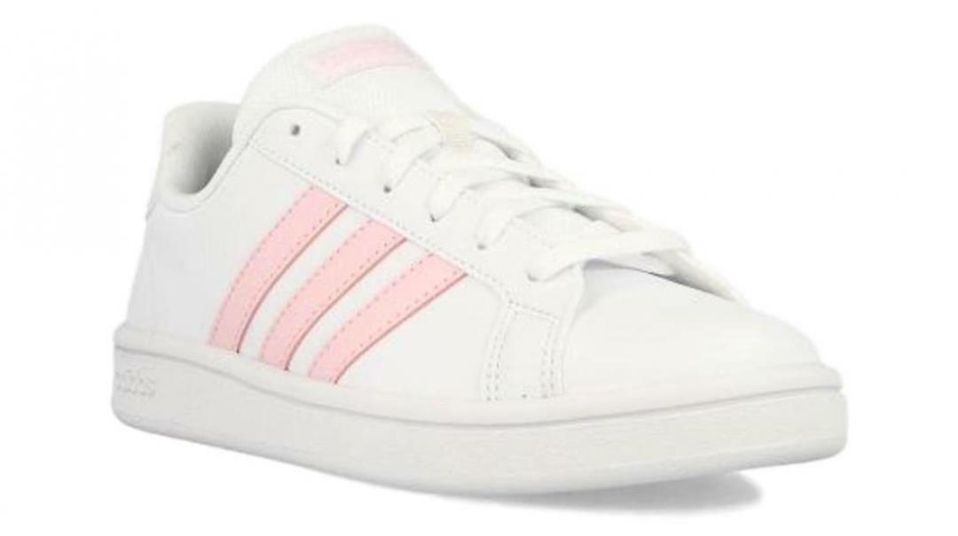 adidas adidas grand court base donna sneaker bassa ee7480 bianco