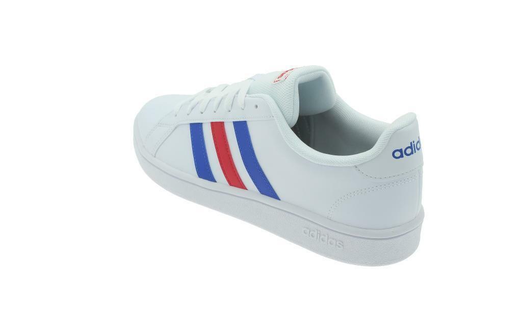 adidas adidas grand court base uomo sneaker sportiva ee7901 bianco
