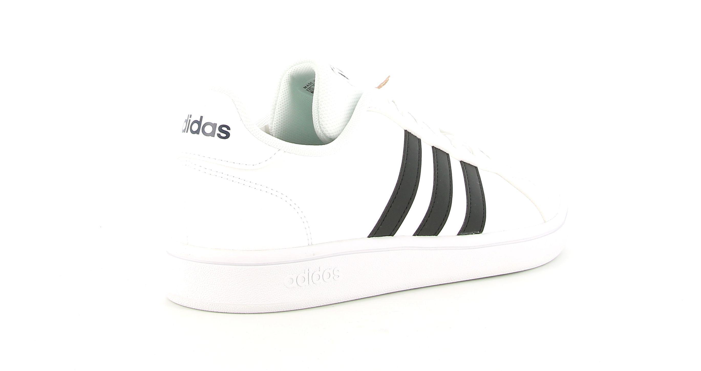 adidas adidas grand court base uomo sneaker bassa ee7904 bianco