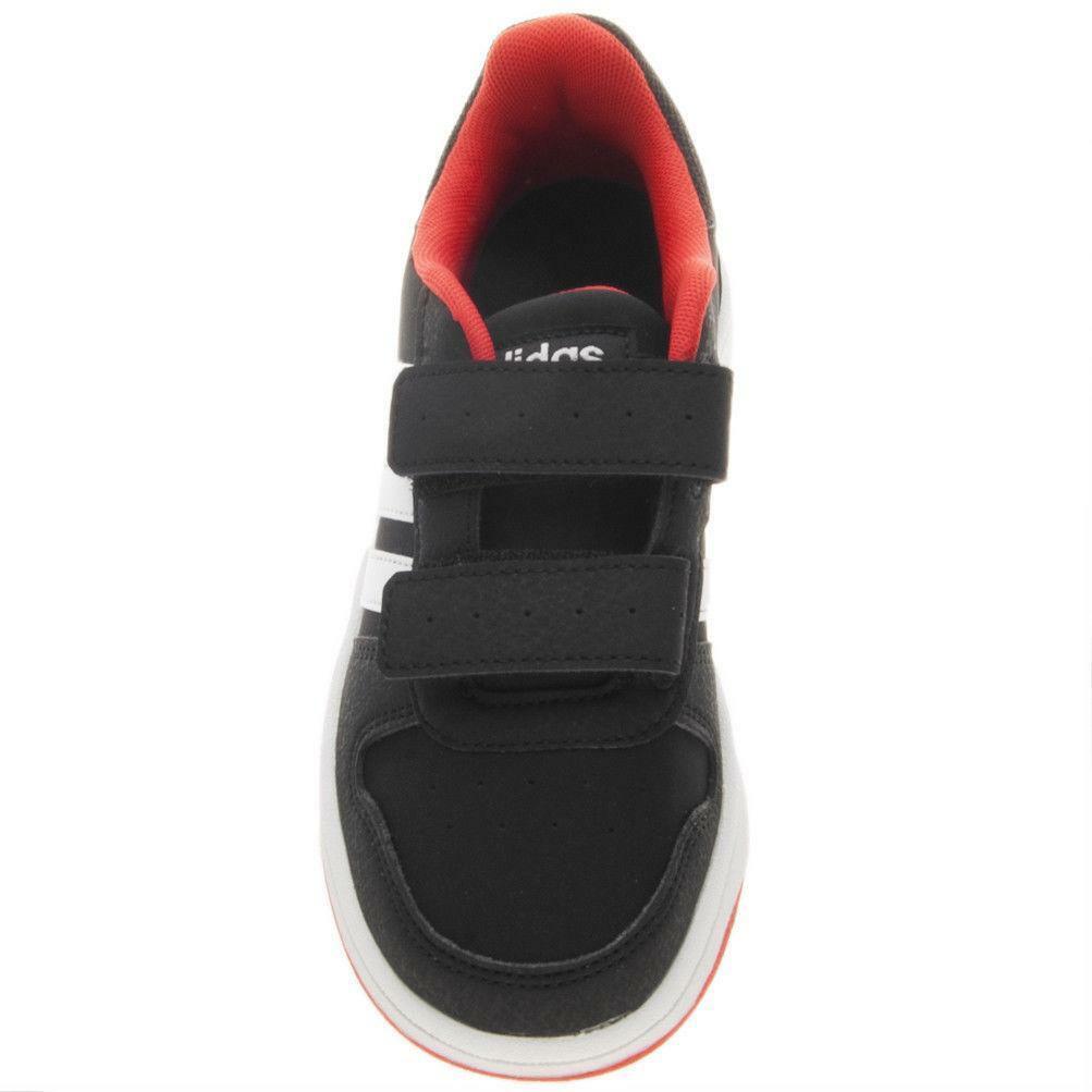adidas adidas hoops 2.0 cmf c bambino strappo sportivo b75960 nero