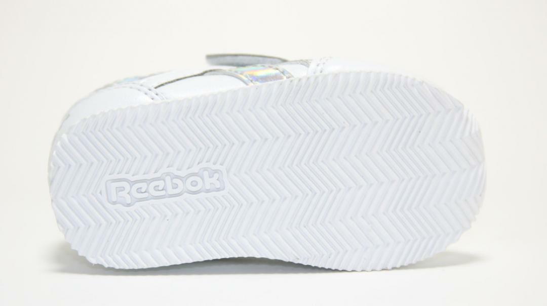 reebok reebok royal cljog dv9022 bianco strappo sportivo bambina