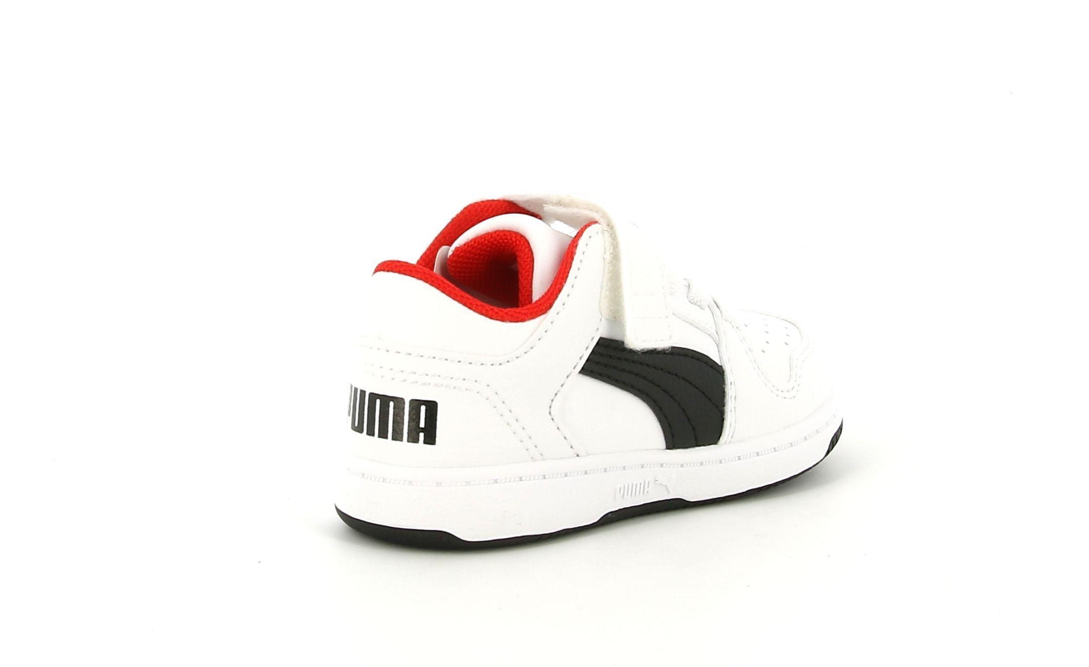 puma puma 370493 001 rebound layup lo sl v inf scarpa sportiva da bambino bianca