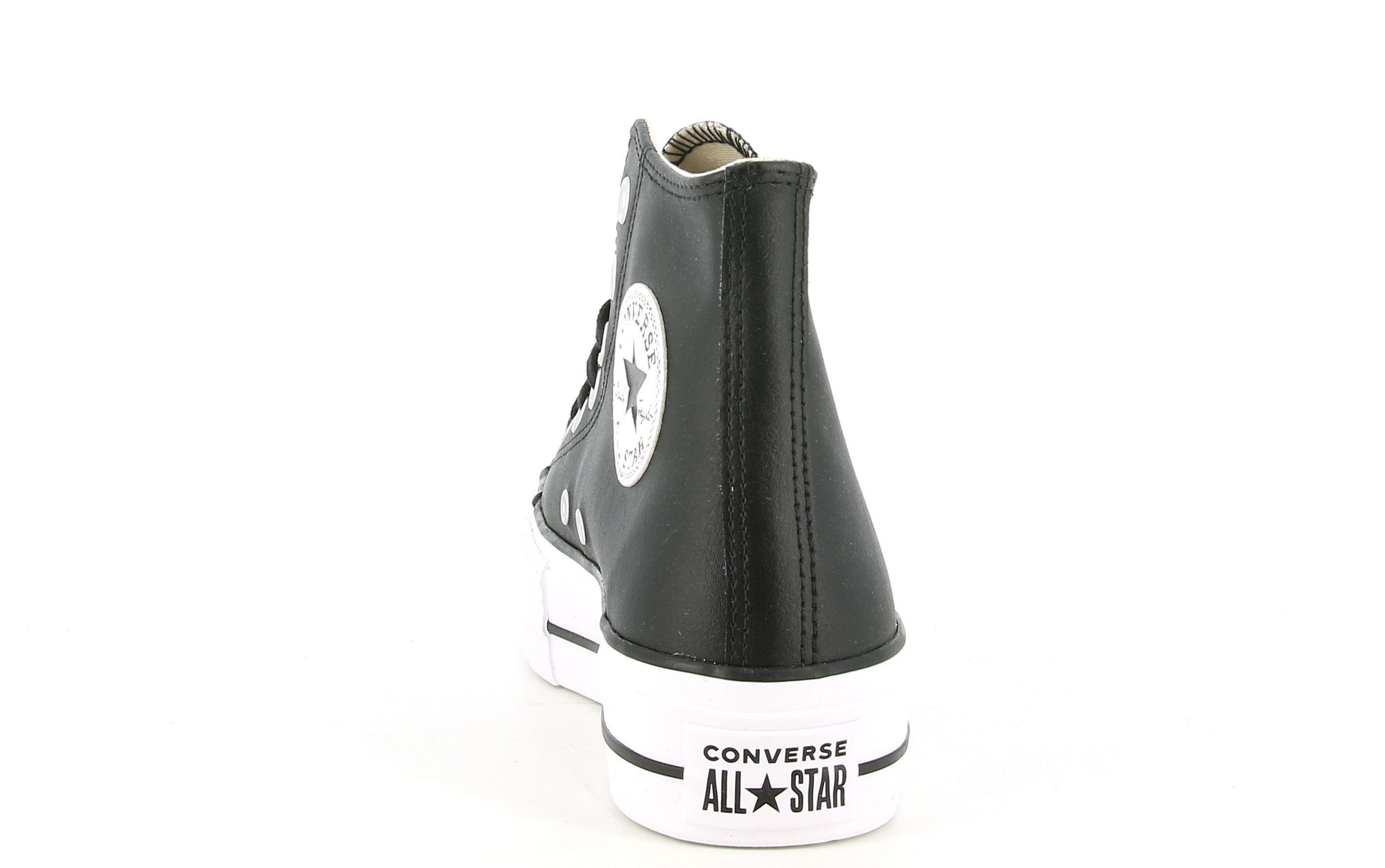 converse sneakers alta platform donna 561675c nero
