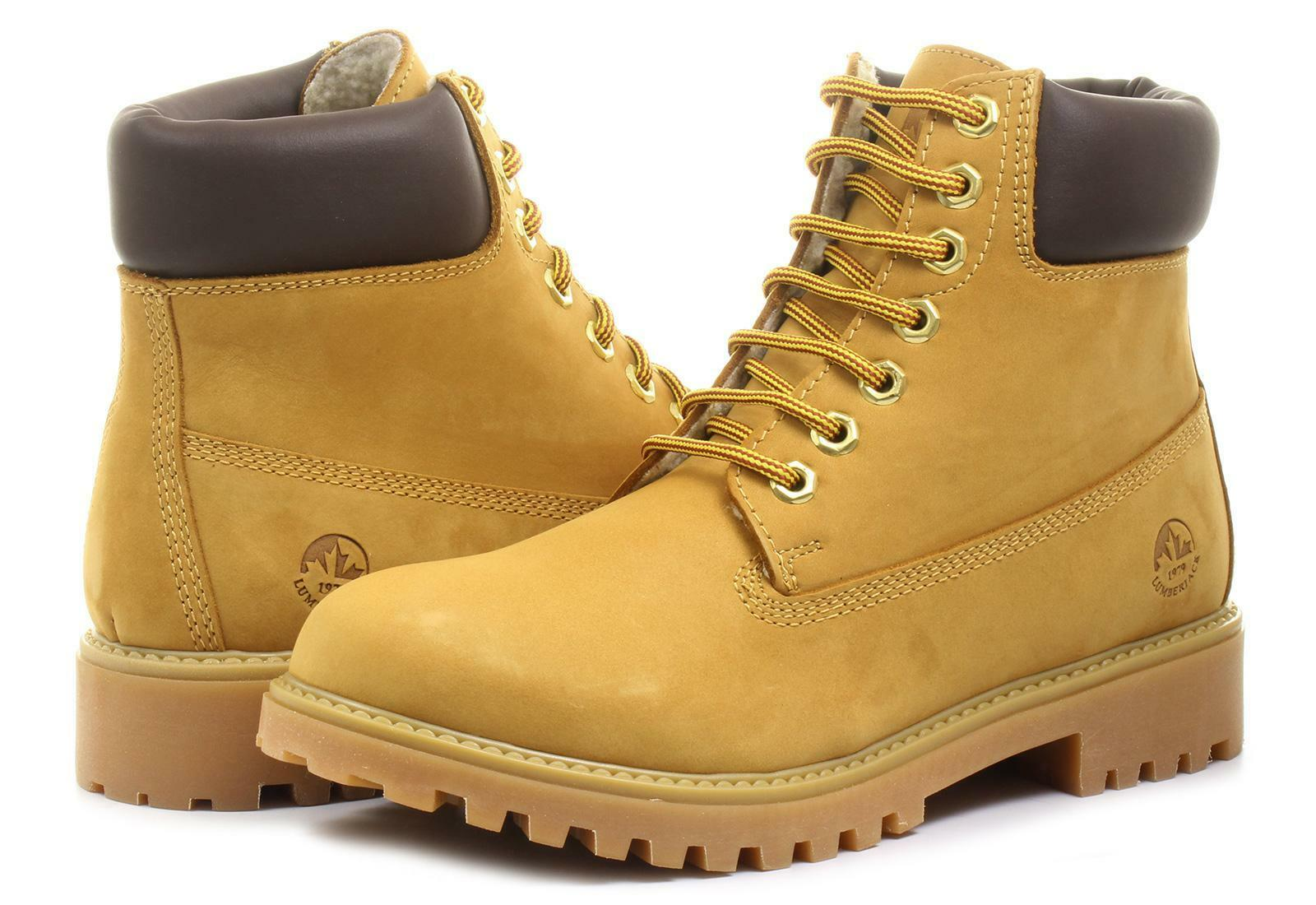 lumberjack scarponcino uomo sm00101-023 giallo