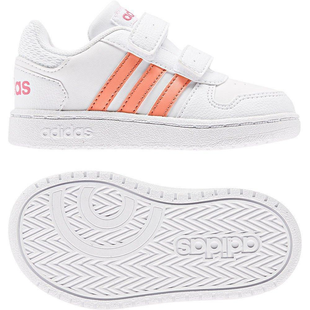 adidas adidas hoops 2.0 cmf c bambino strappo sportivo ee6725 bianco