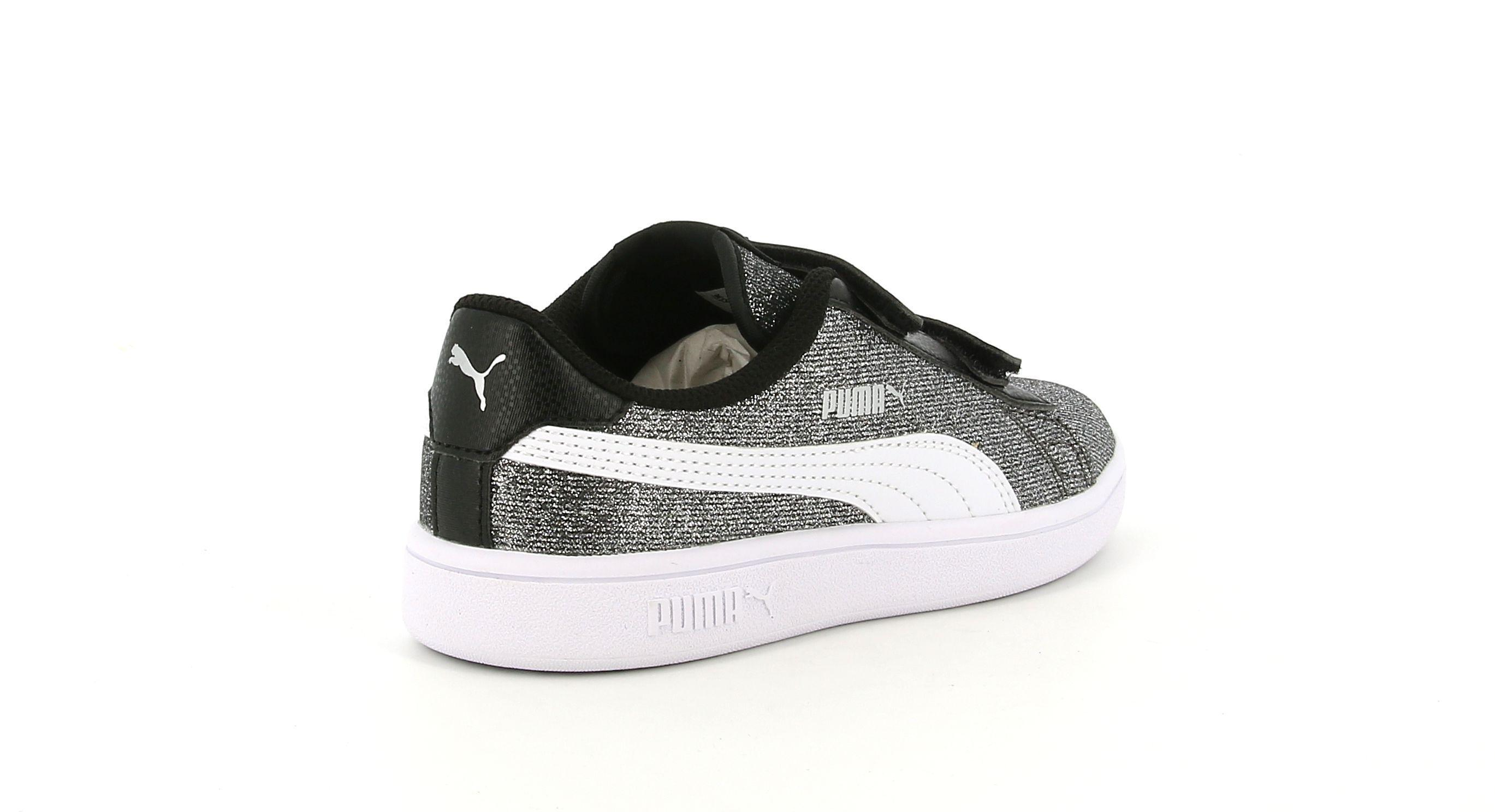 puma puma 367378 004 smash glitz glamm v ps sneakers bassa da bambina grigio