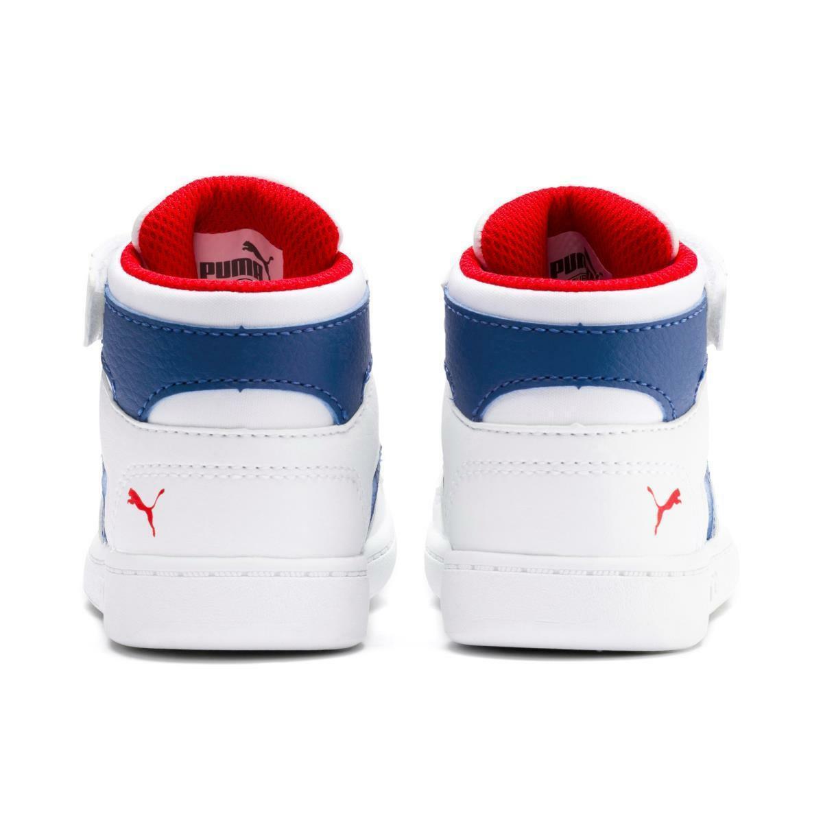 puma puma rebaund layup sl v inf bambino sneaker alta 370489 005 bianco