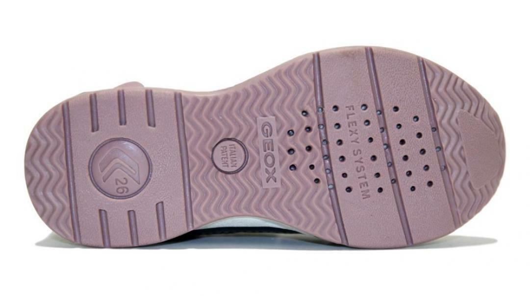 geox geox strappo sportivo bambina b941sa 0aj54 c0952 grigio rosa