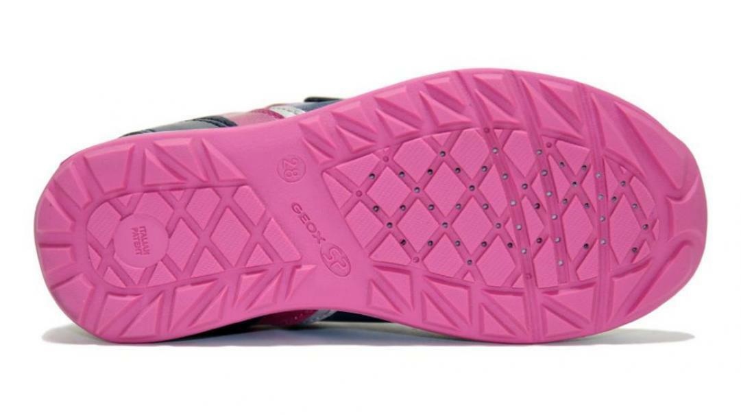 geox geox strappo sportivo bambina j94g2b 054pv c4268 blu rosa