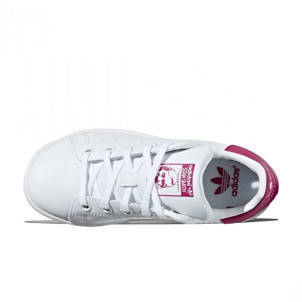adidas adidas stan smith c bambina ba8377 bianco/fuxia