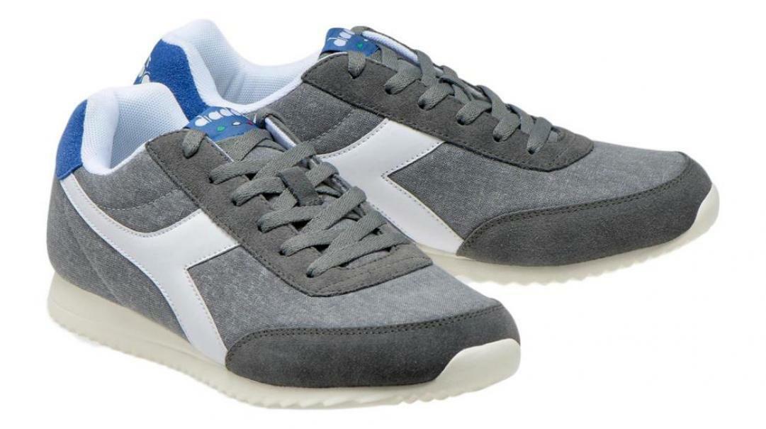 diadora diadora jog light c uomo 171578 grigio/blu