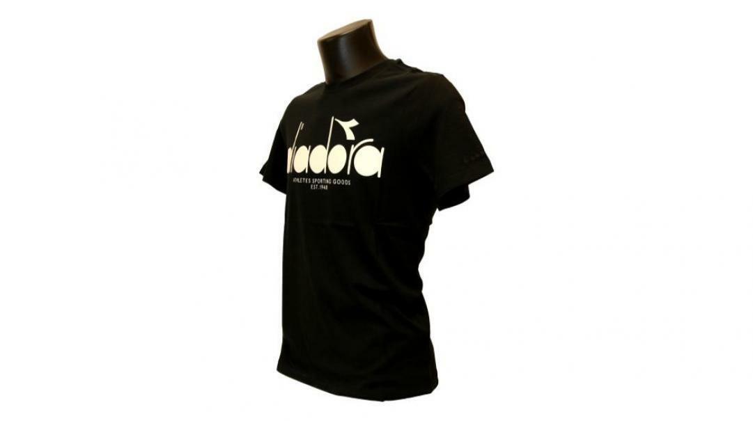 diadora diadora t-shirt uomo 176633 nero bianco