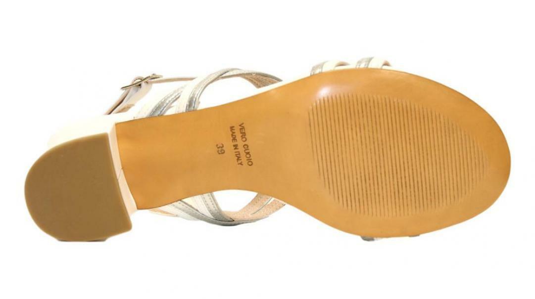 lamour lamour sandalo donna 255 bianco/argento