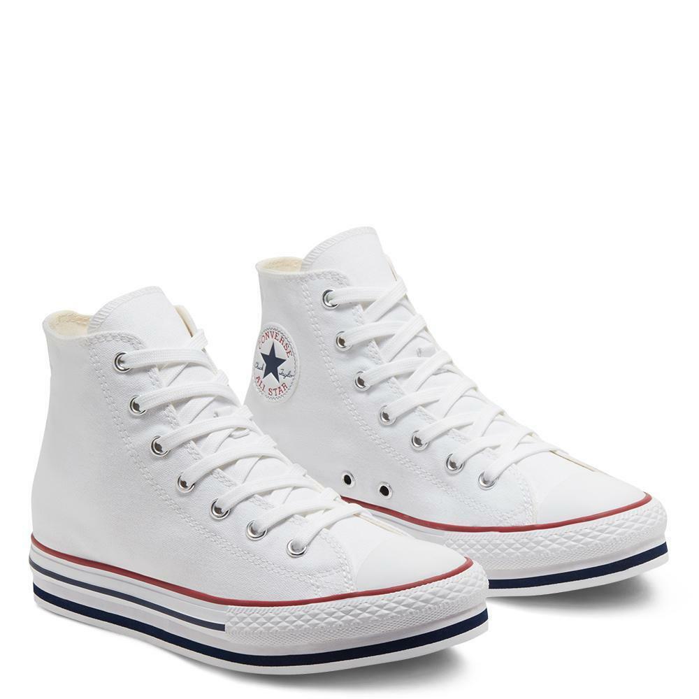converse converse platform eva hi  white/midnight   668026c bianco