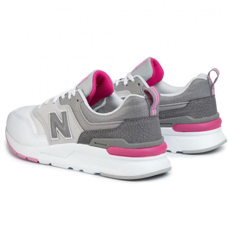 new balance new balance sportivo white/pink donna cw997hax bianco