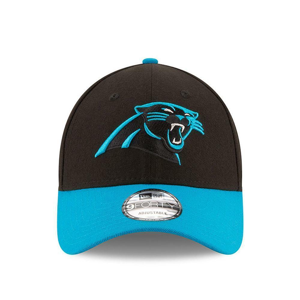 new era new era 10517891 carolina panthers cappello unisex black/lt blue
