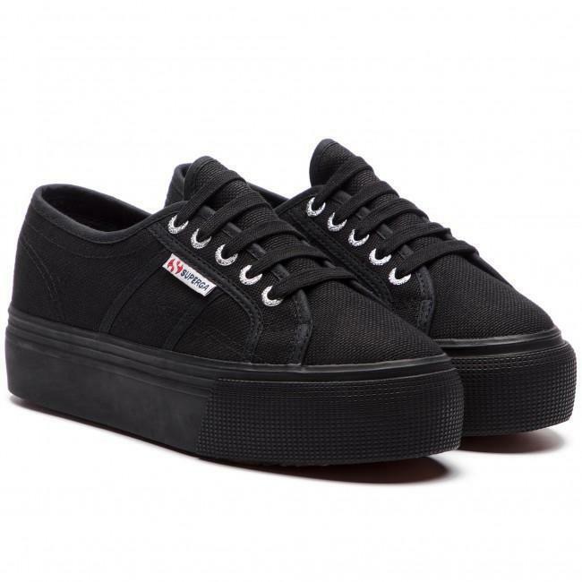 superga superga sneakers zeppa full black 2790 nero