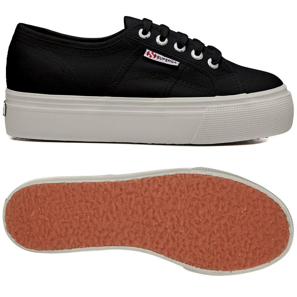 superga superga sneakers zeppa 2790 nero bianco