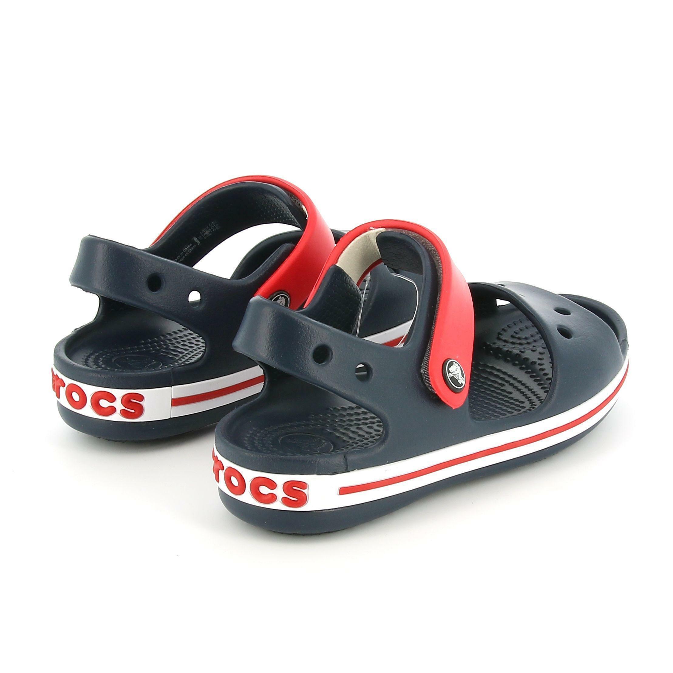 crocs crocs ciabatte bimbo 12856 blu sandalo con cinturino alla caviglia
