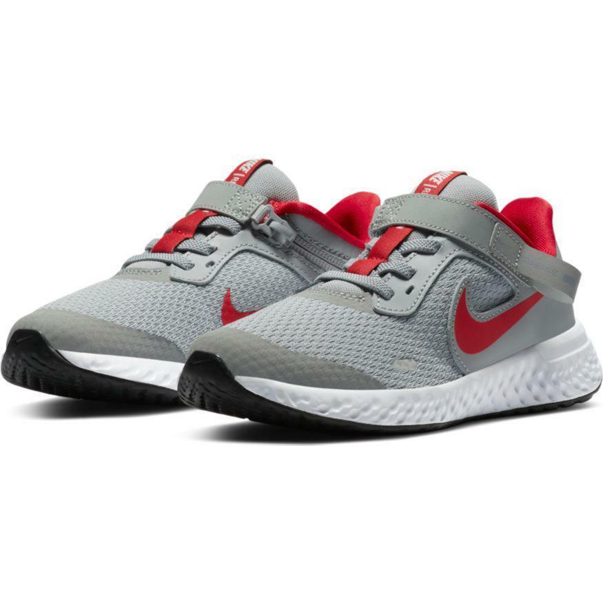 nike nike revolution 5 flyease (psv) cq4648 013 scarpa da corsa bambino grigio