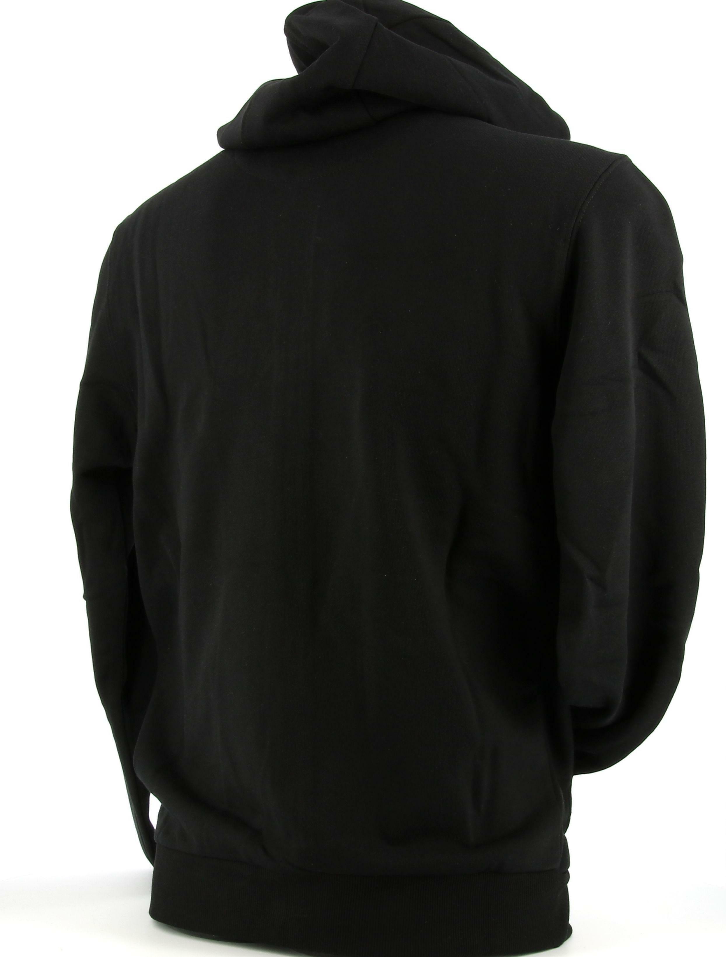 lotto lotto felpa 214471 nero hoodie uomo