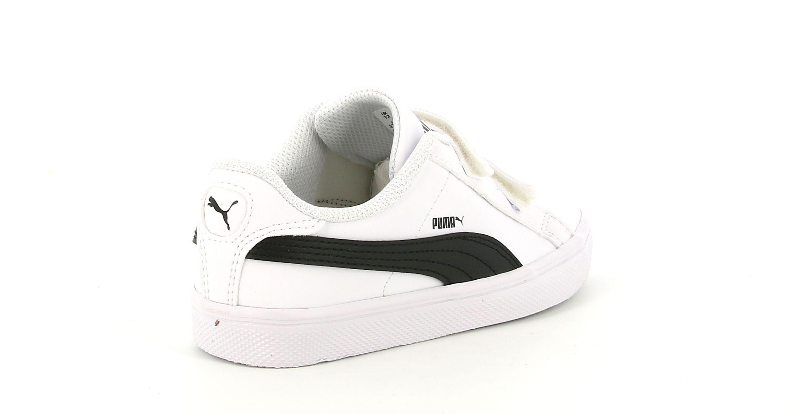 puma puma 370705 004 smash vulc ps sneakers unisex bambino bianco