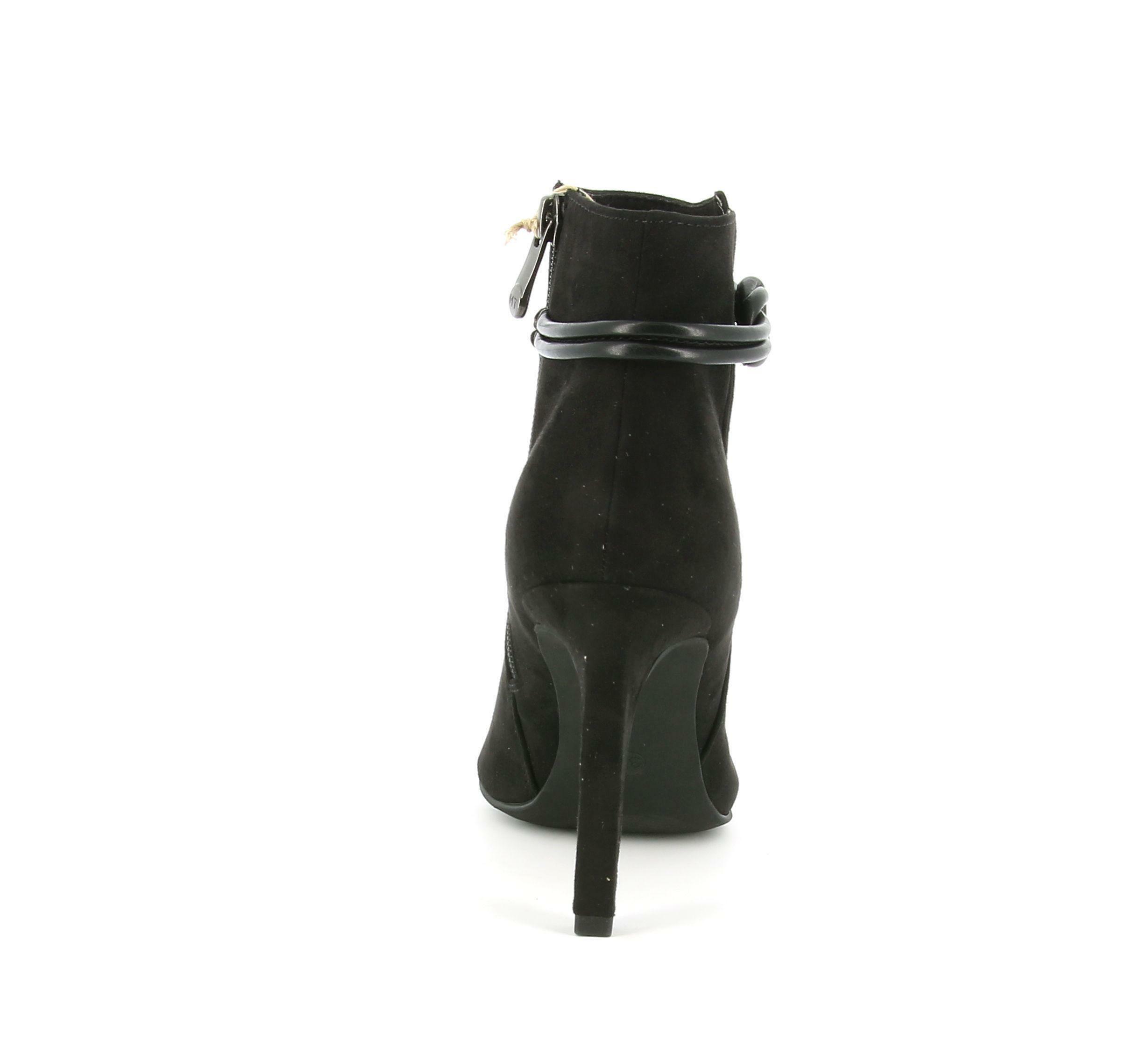 marco tozzi marco tozzi tronchetto  25064 nero tronchetto tacco donna