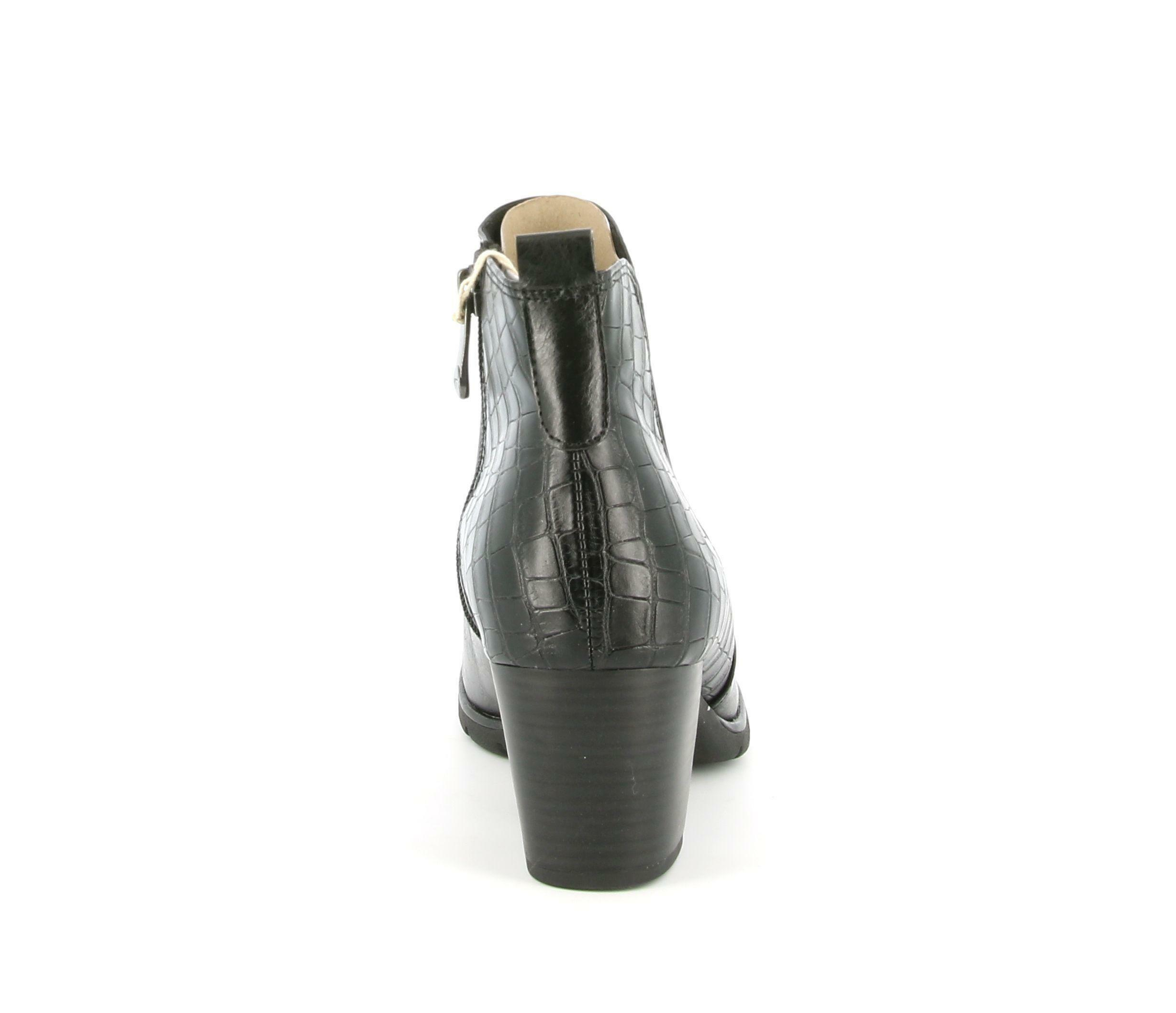 marco tozzi marco tozzi tronchetto tacco da donna 25395 nero