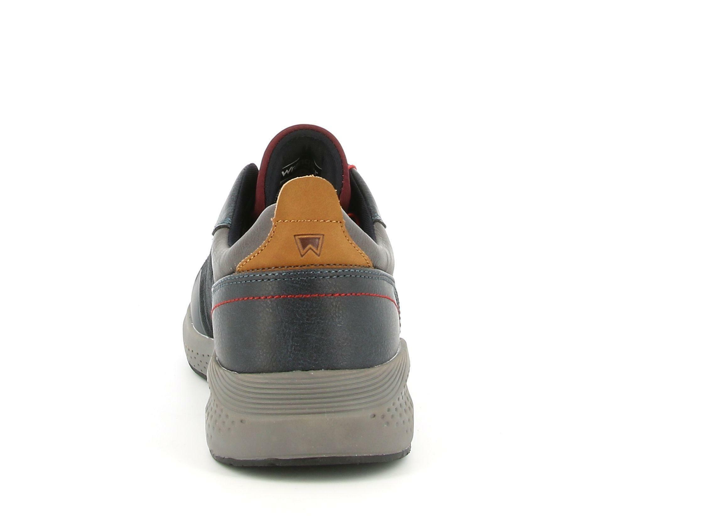 wrangler wrangler allacciato sportivo sequoia patch wm02090a blu scarpe da uomo