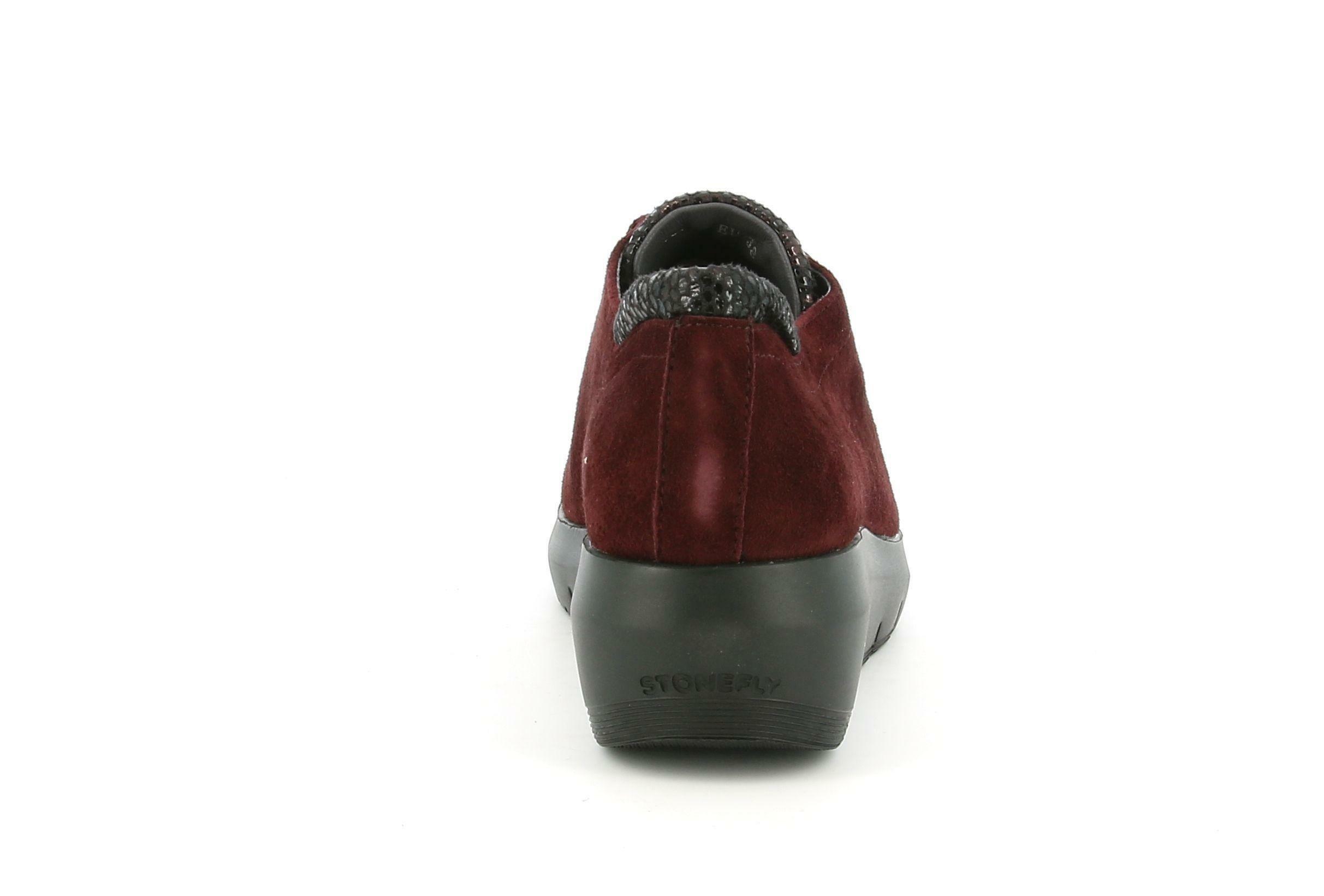 stonefly stonefly allacciato sportivo 214722 bordeaux sneakers donna