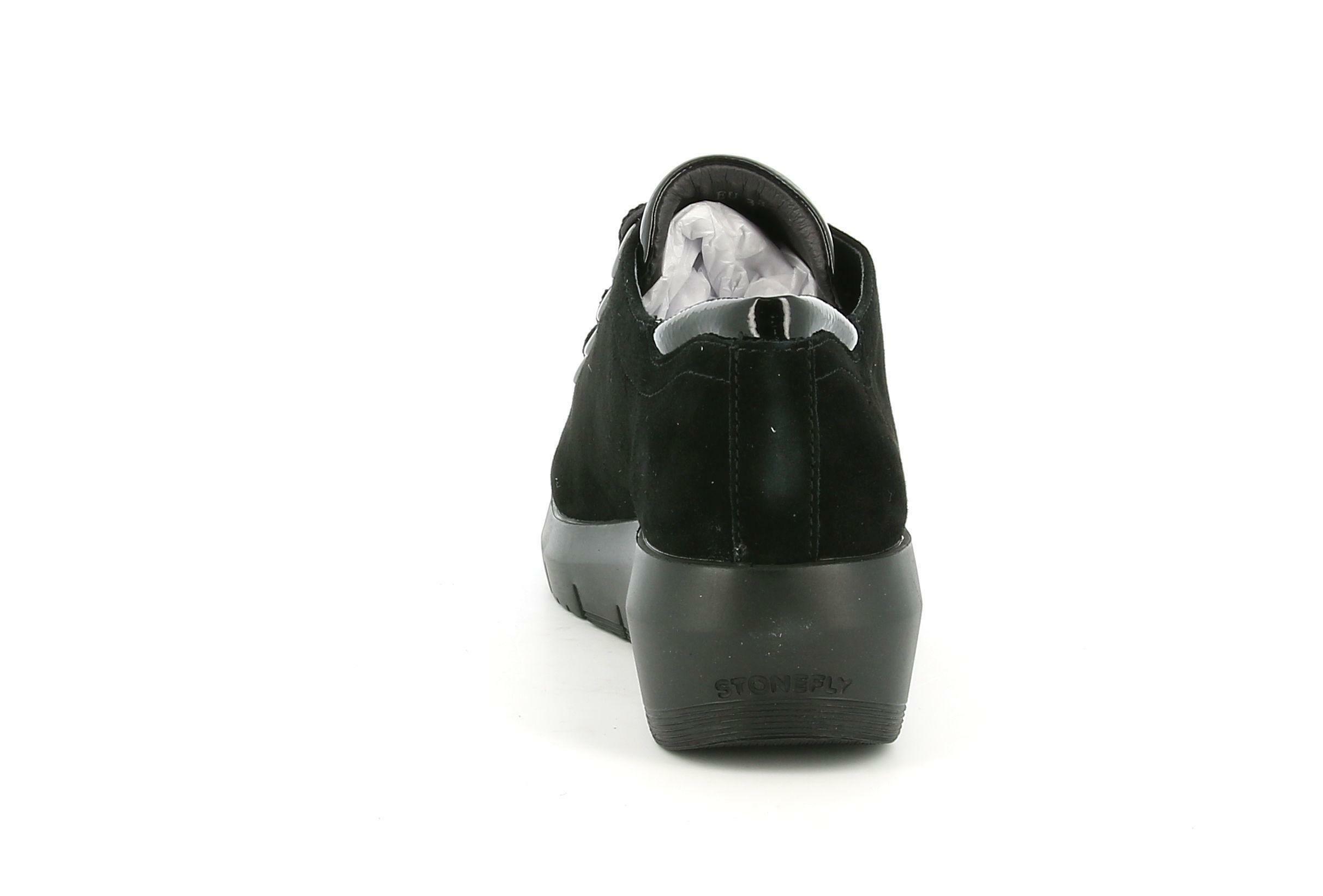 stonefly stonefly 214723 nero scarpa chiusa donna nubuk