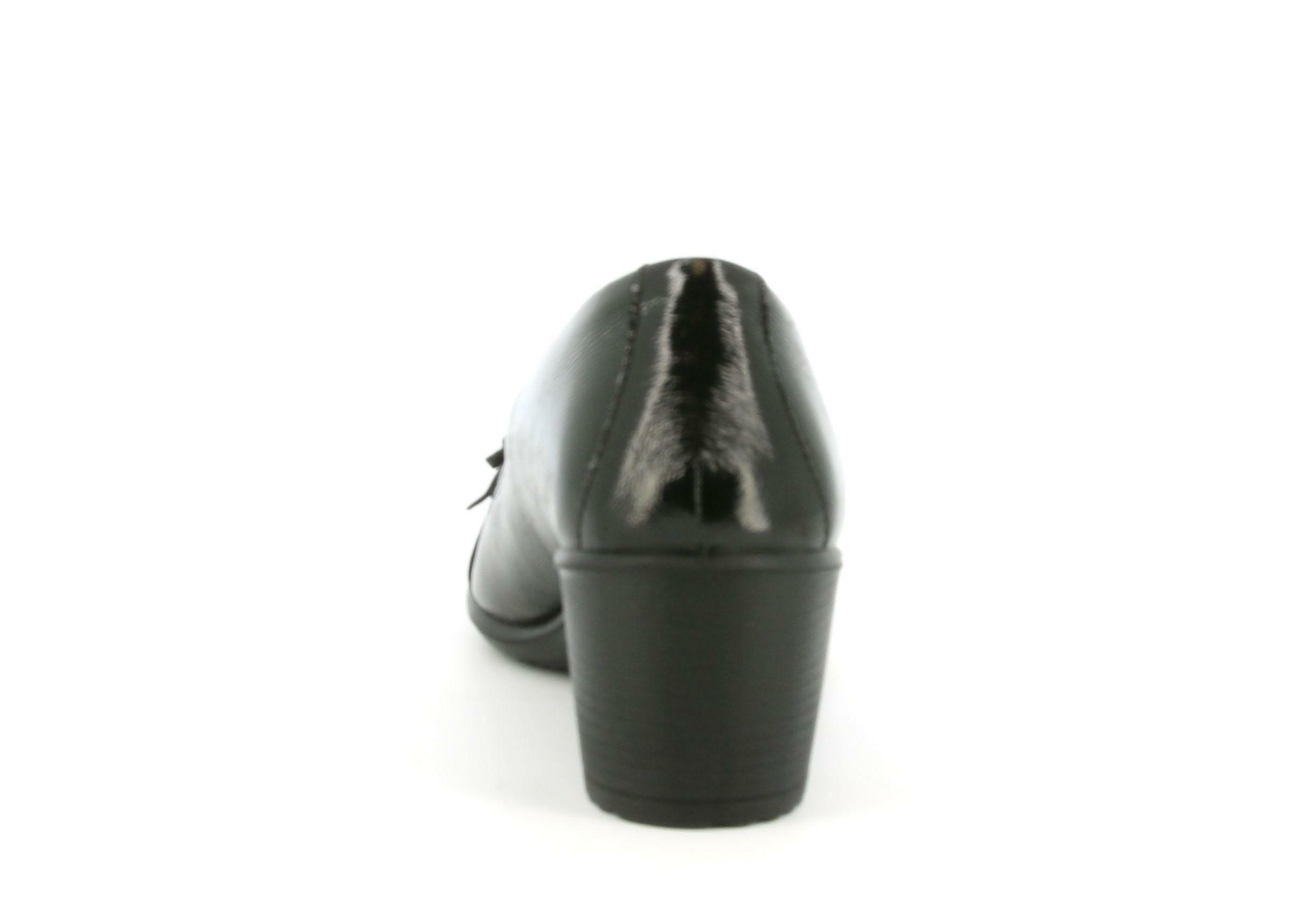 enval enval mocassino da donna tacco separato 6253711 nero