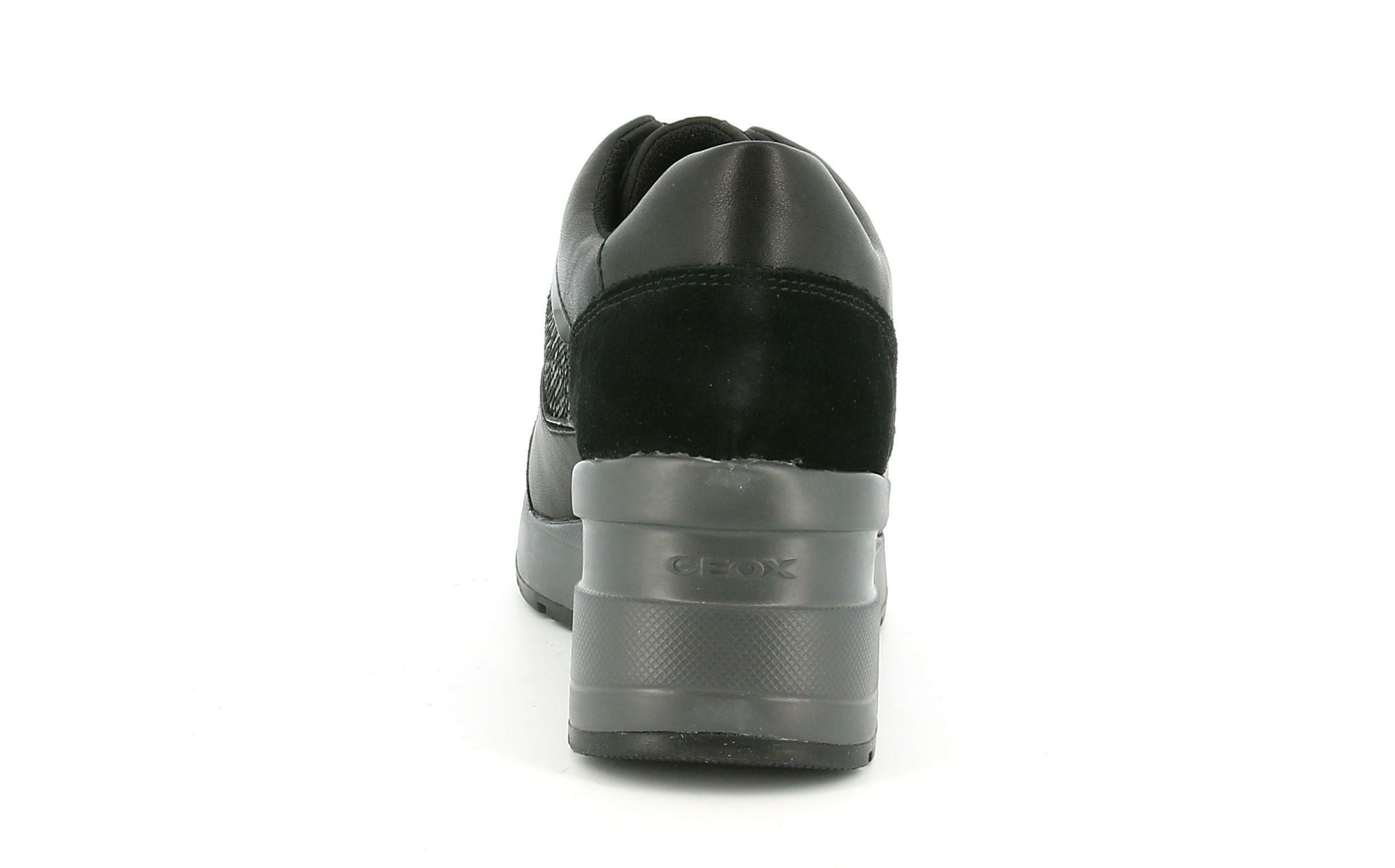 geox geox allacciato sportivo d zosma a d028la 08522 c9999 da donna nero