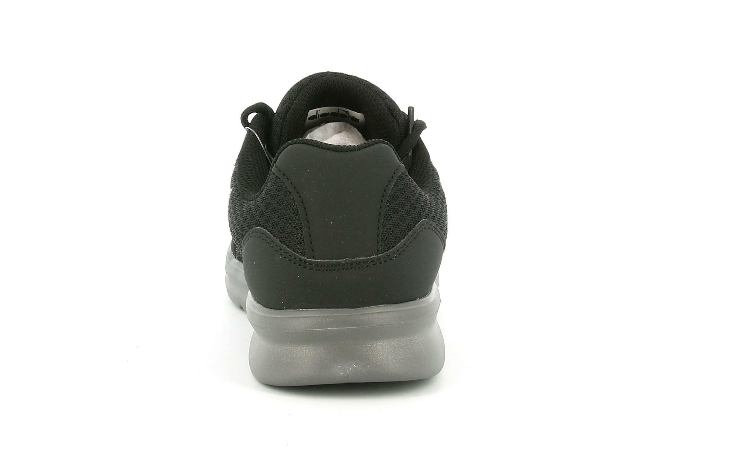 diadora diadora - scarpa da running robin per uomo nero/grigio acciaio 175949 nero