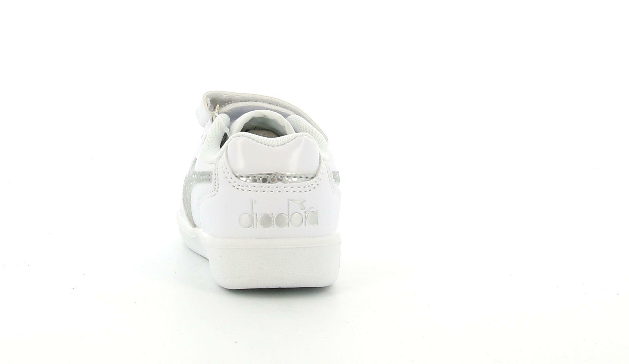diadora diadora playground td 175783 bianco/argento scarpe da bambina
