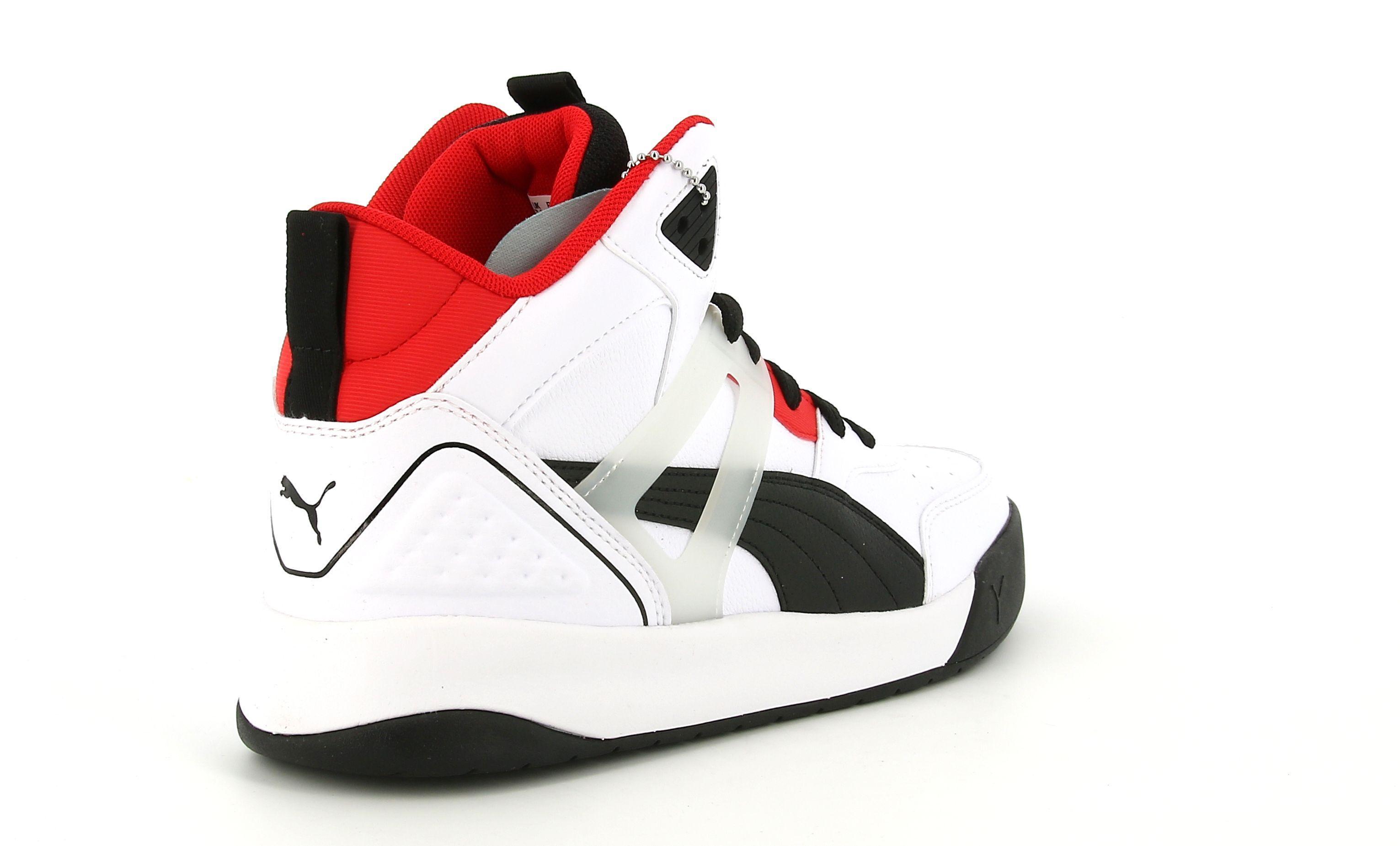 puma puma  374139 001 backcourt mid sneaker alta da uomo bianca