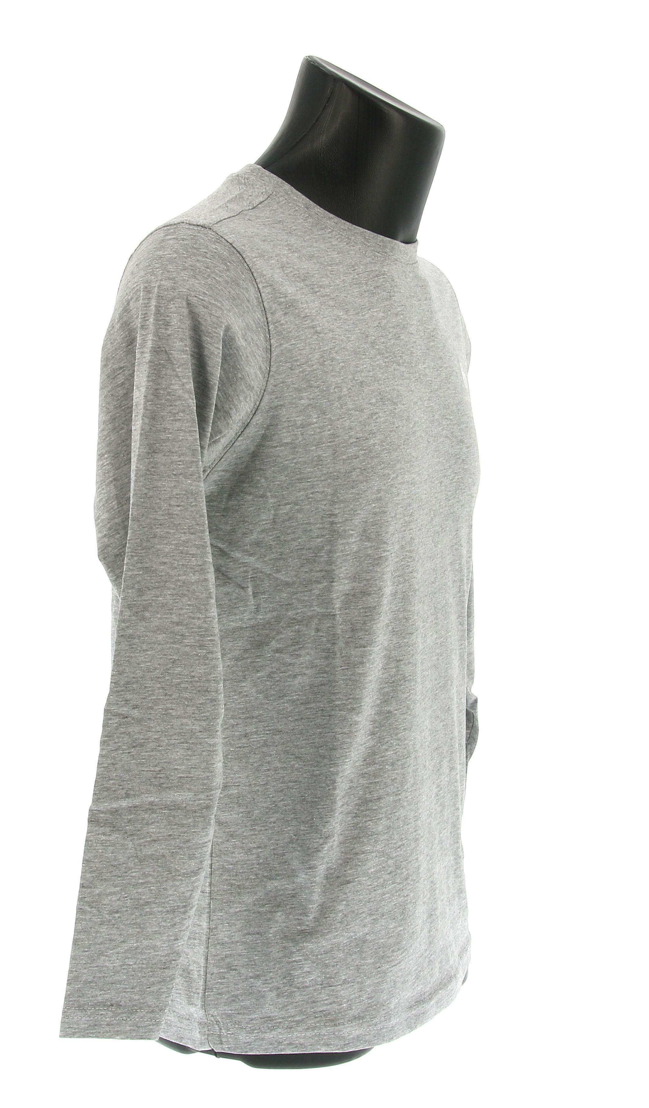 sergio tacchini sergio tacchini sl t-shirt iconic 10006 manica lunga uomo grigio